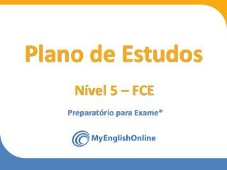 Plano de estudos - nivel 5 - fce