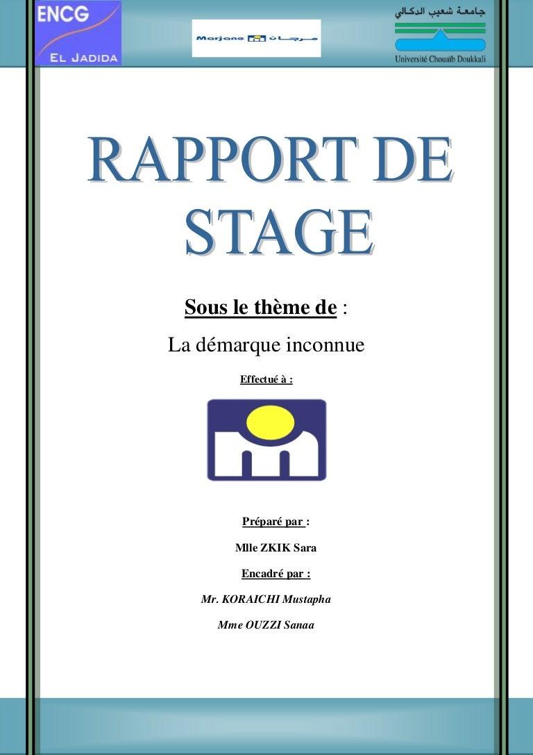Ppt Page De Garde Rapport De Stage 3eme