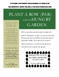Plant a Row for the Hungry - Rutgers, New Jersey