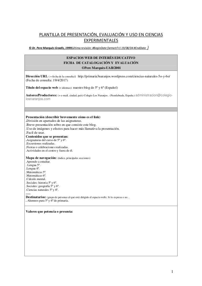 Plantilla análisis web