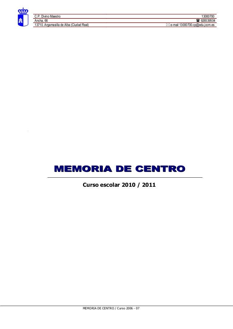 Plantilla memoria.2010 11