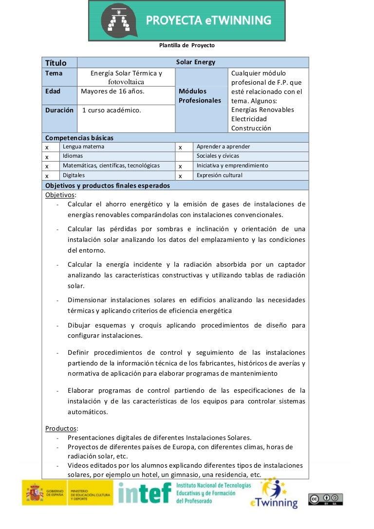 Plantilla proyecto e twinning energia solar_