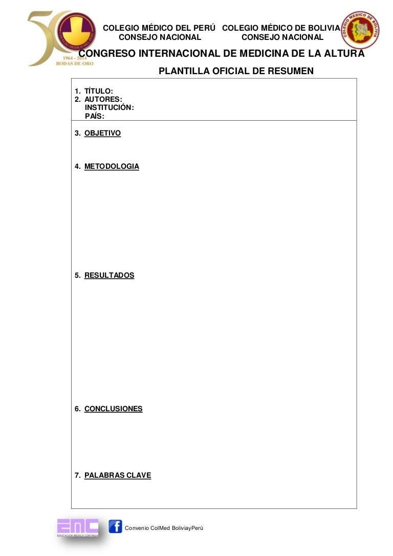 Plantilla para Resúmenes de Trabajos de investigación: CIMA Puno 2, 3…
