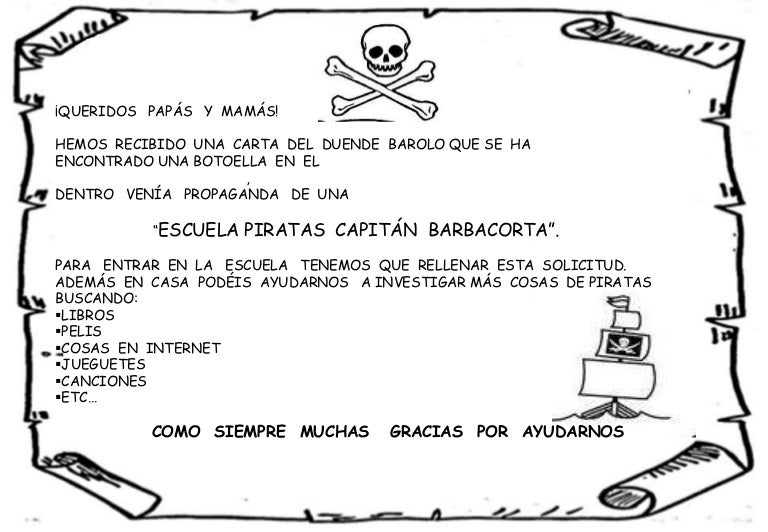 Proyecto Los Piratas Infantil