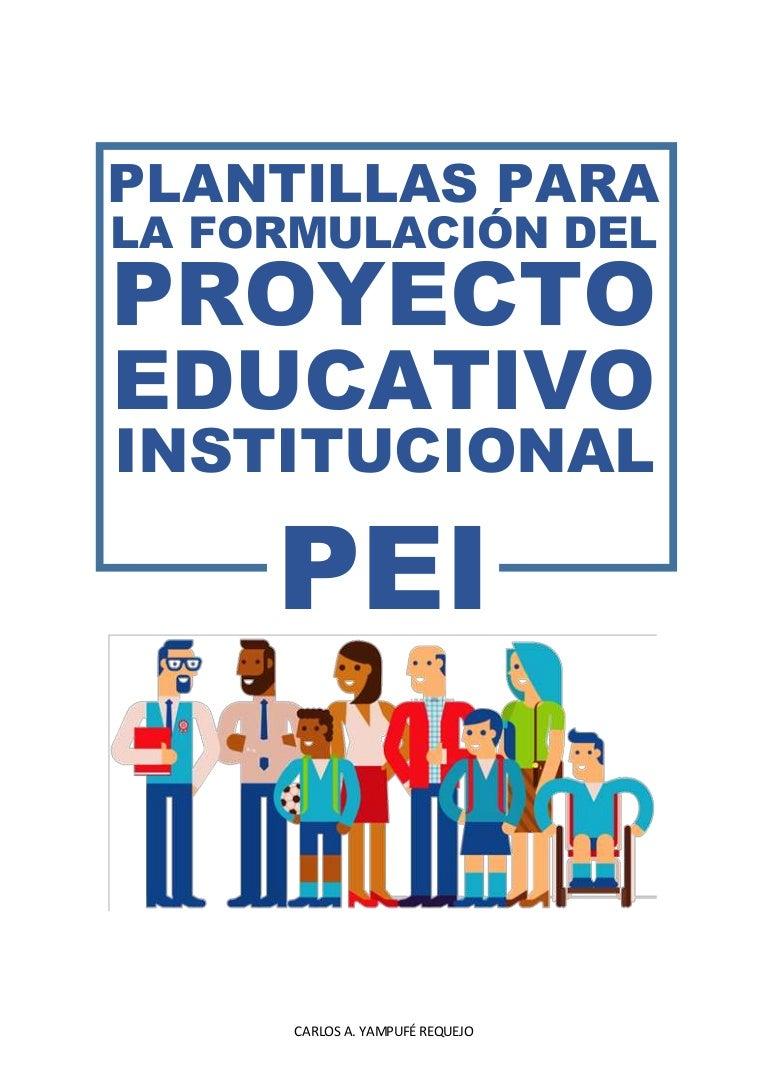 Plantillas para elaborar el PEI 2017