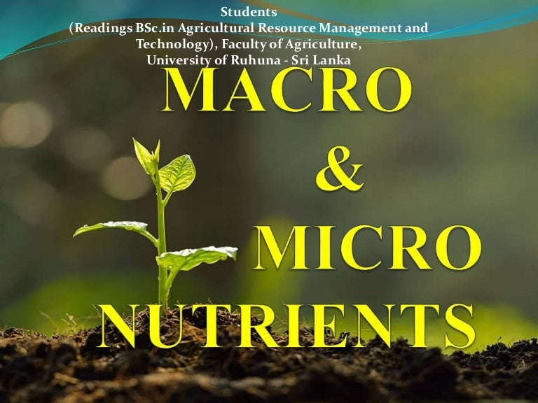 Plants Nutrients and Deficiency, Toxicity Symptoms