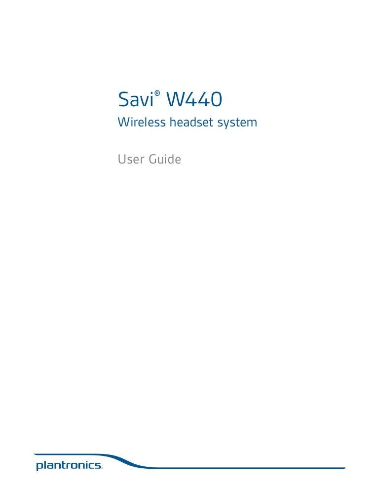Plantronics savi w440 user guide