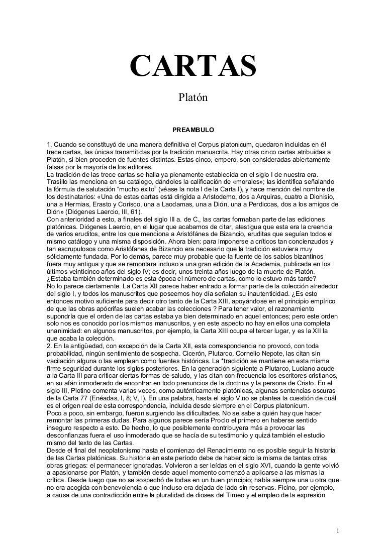 Platon cartas