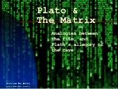 Plato & The Matrix