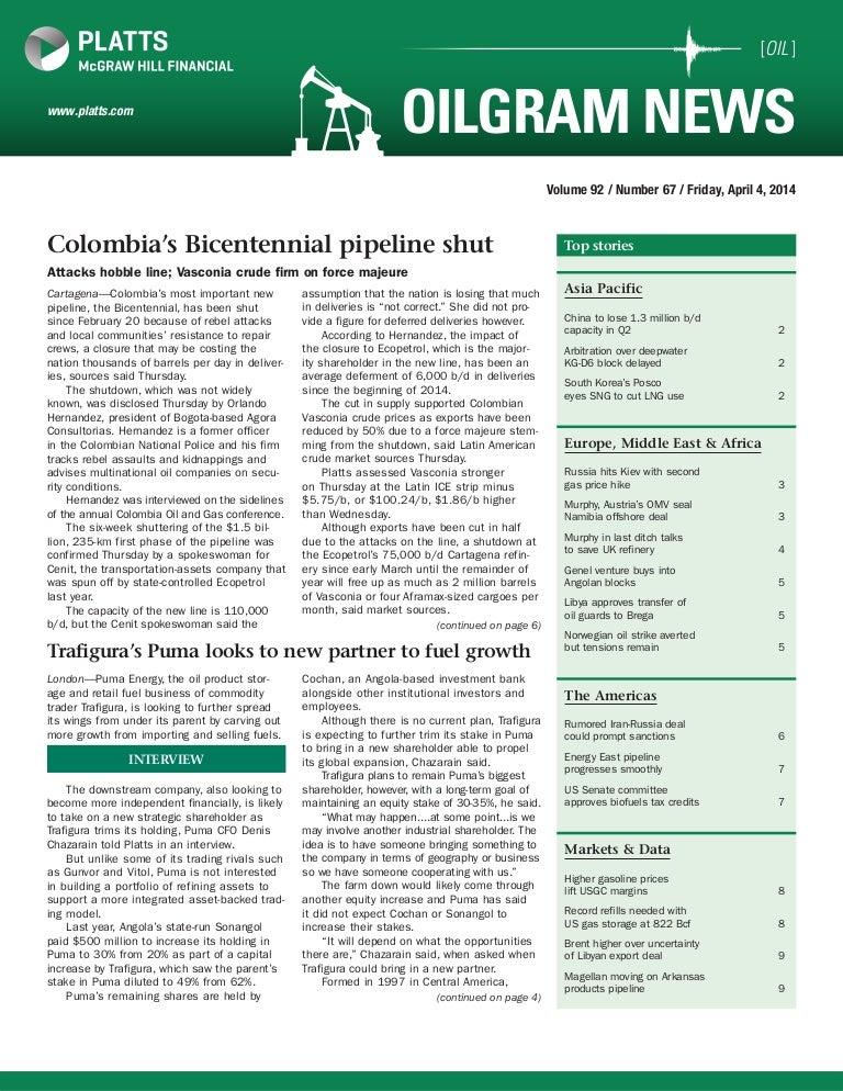 Platts oilgram news 20140404