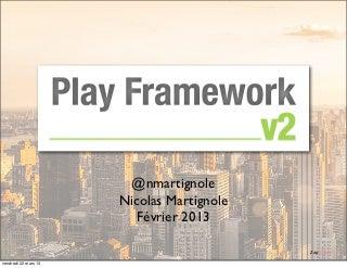Play2 ou l'architecture web réactive