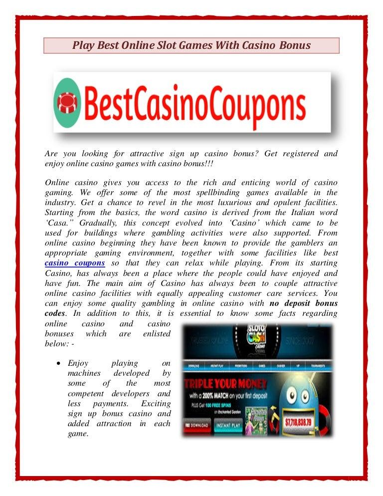 best signup bonus online casino