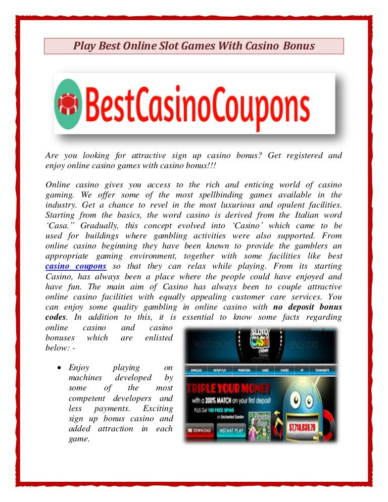 online casino bonus best slots