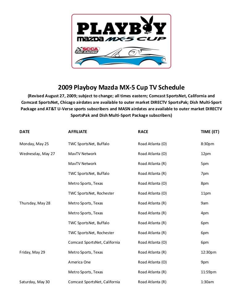Playboy channel schedule
