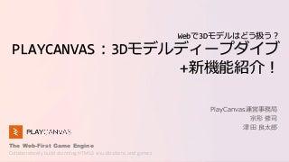 Webで3Dモデルはどう扱う?PlayCanvas:3Dモデルディープダイブ+新機能紹介!