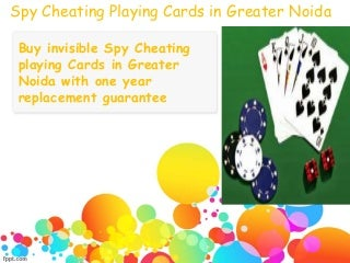 Play confidently with spy cheating playing cards in greater noida