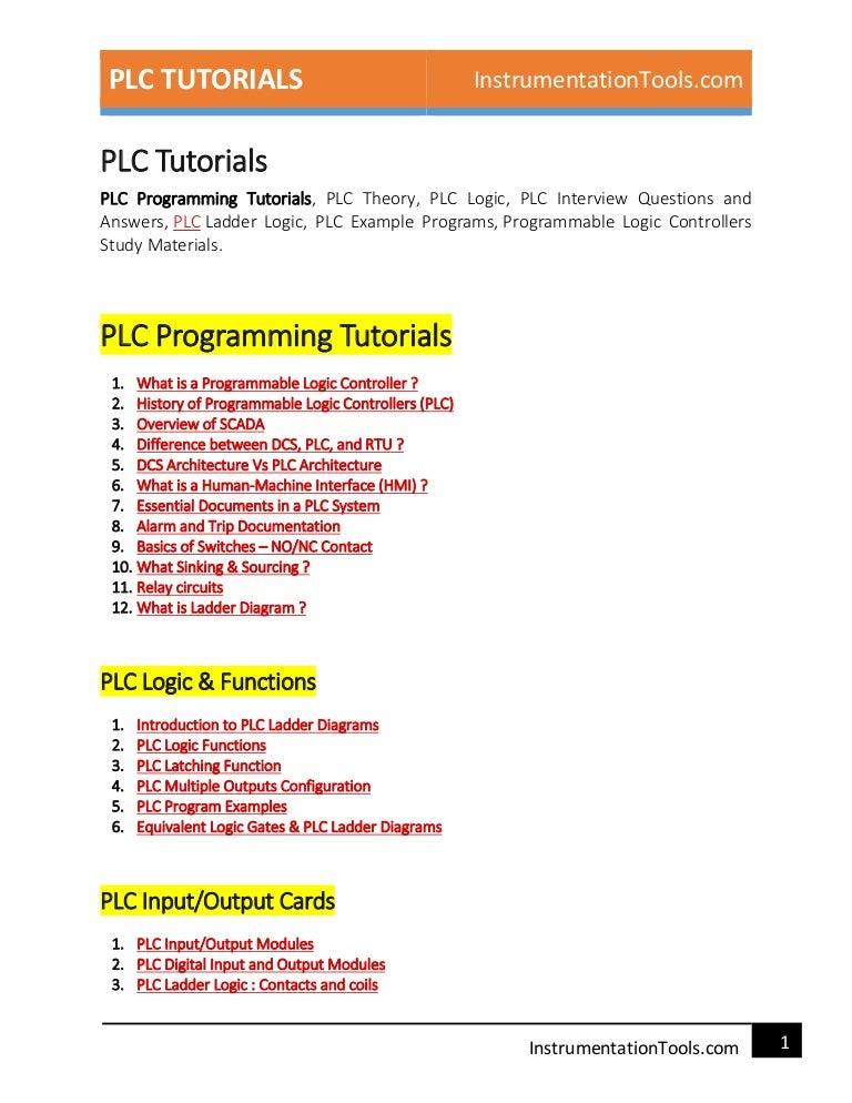 Plc Guide