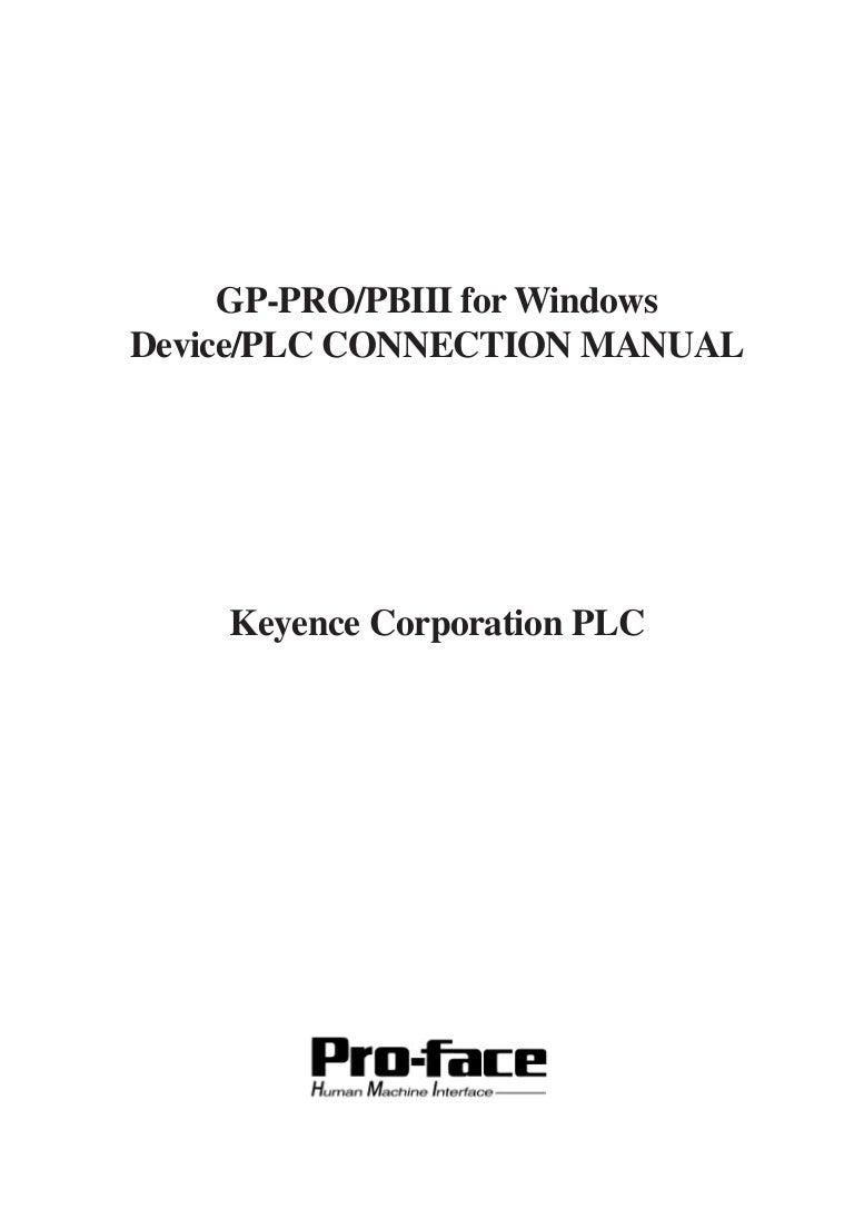 PLC keyence conection manual – Keyence Nsor Wire Diagram