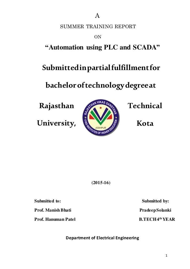 Plc Scada Report 4 Ladder Programs Internal Relays Programmable Logic Controllers