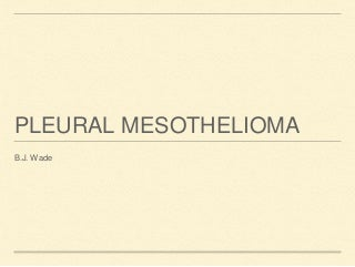 mesothelioma doctor
