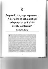 Pragmatic language impairment in relation to autism and SLI