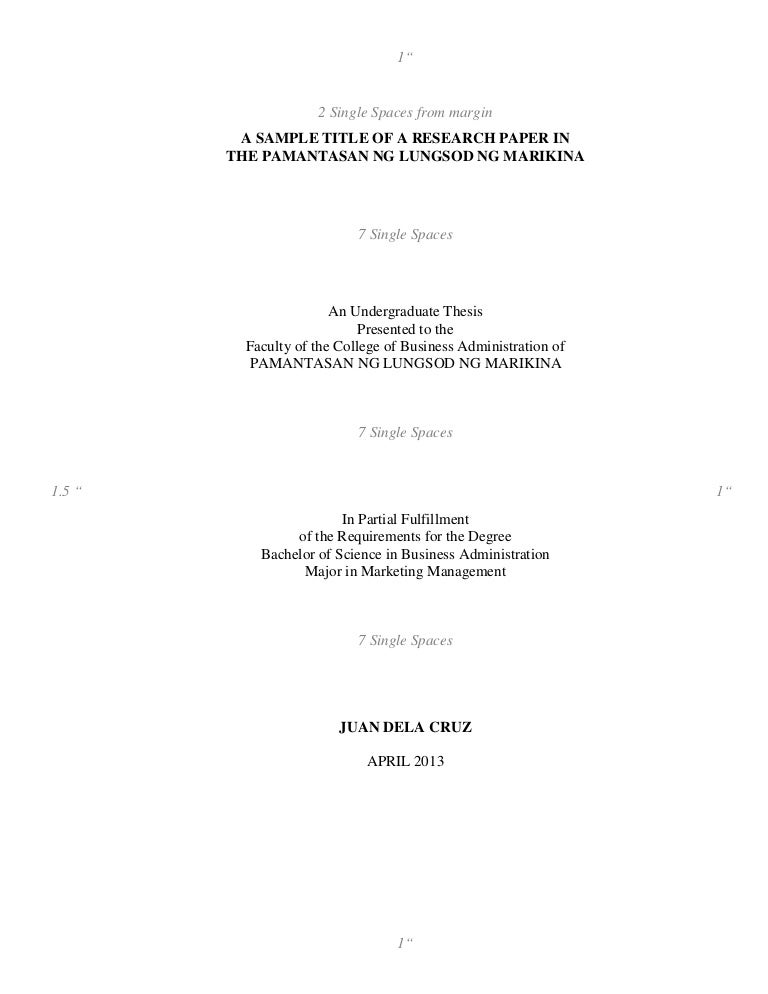 thesis for business major