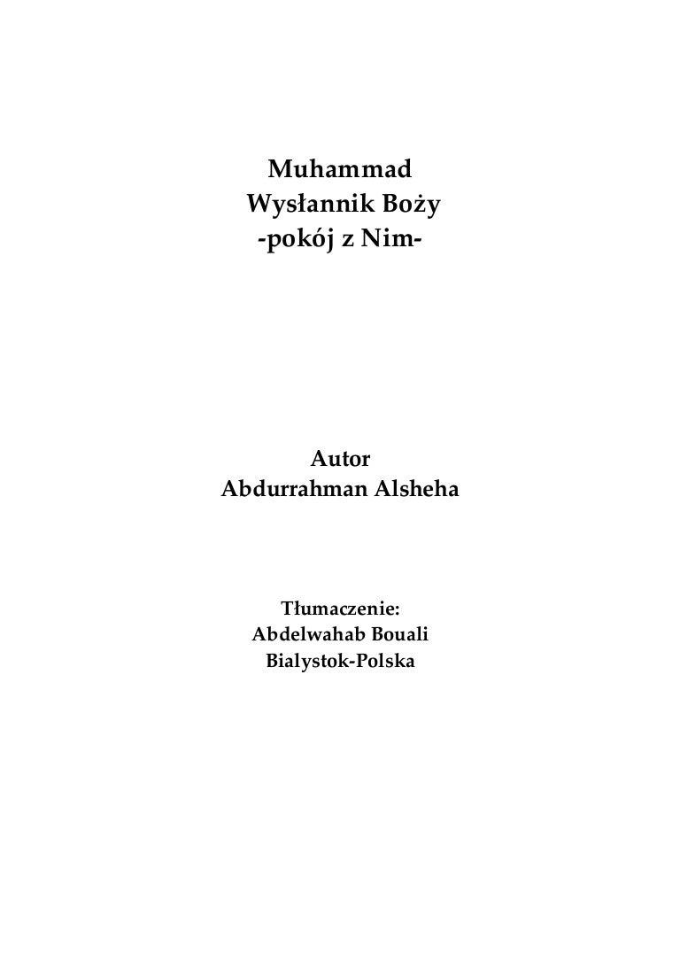 Pl Muhammad Wysłannikbozy محمد رسول الله صلى الله عليه وسلم