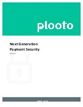 Plooto - Next Generation Payment Processing Security