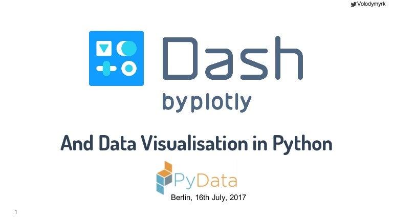 Plotly dash and data visualisation in Python