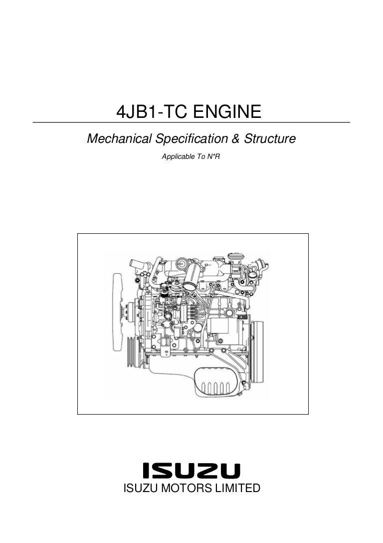 Isuzu troope 4jb1tc workshop manual user guide manual that easy to plugin nkr 4 jb1 rh slideshare net fandeluxe Gallery