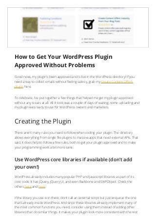 How to Get Your WordPress Plugin Approved Without Problems