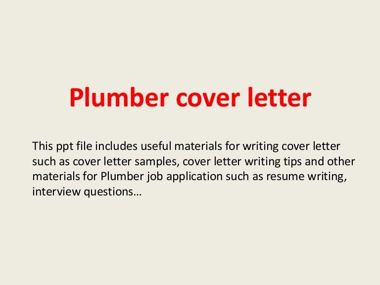 plumbercoverletter 140223204711 phpapp01 thumbnail 4jpgcb1393188458 - Resume Cover Letter Buzzwords