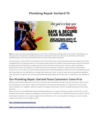 Plumbing Repair Garland Texas
