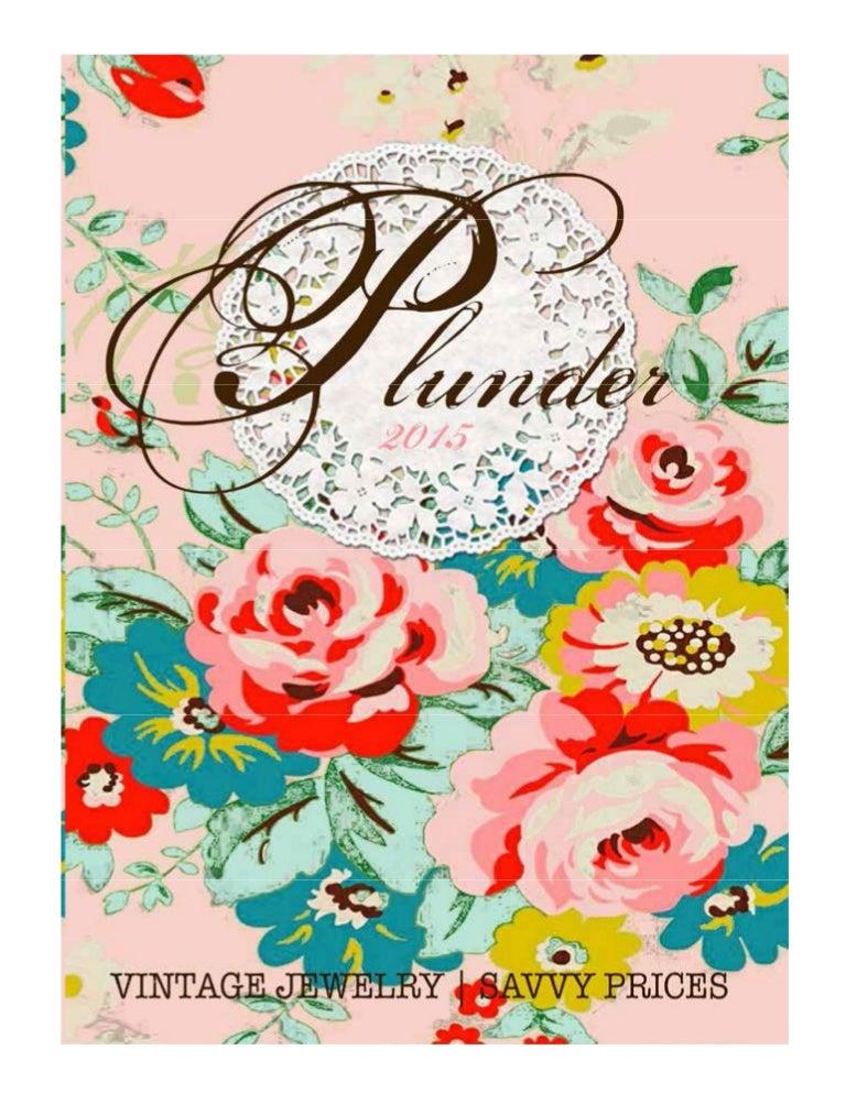 1f2cd5f7620 Plunder Design Spring Catalog 2015 www.PlunderDesign.com/Krystal