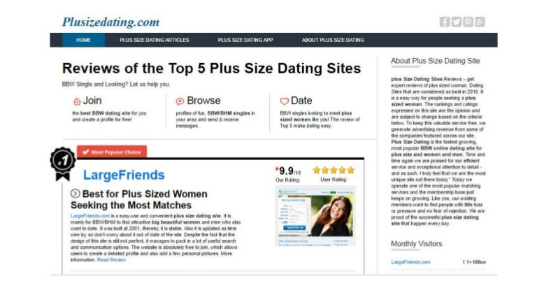 best plus size online dating sites