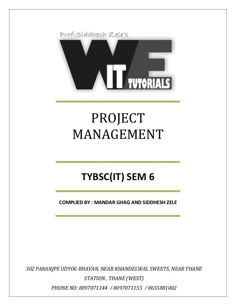 Tybsc it sem 6 project management notes fandeluxe Image collections