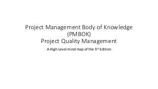 PMBOK 5th edition Project Quality Management