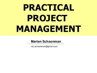 Practical Project Management - full course