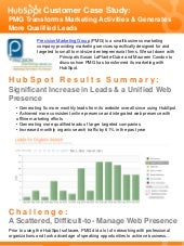 Case Study: PMG Transforms Marketing Activities & Generates More Qualified Leads