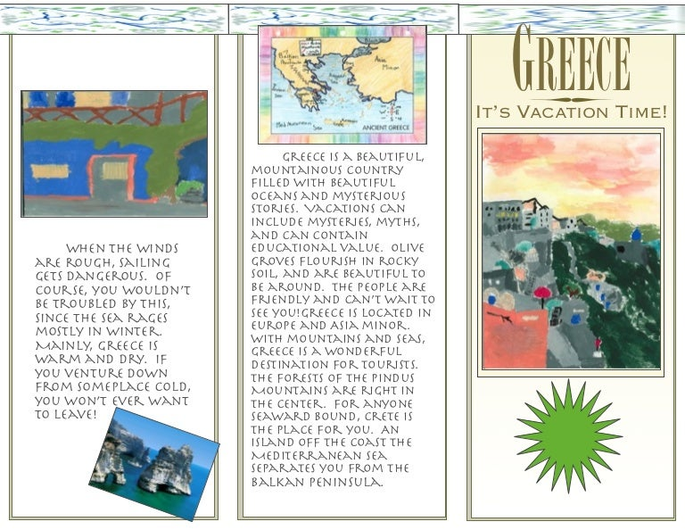 travel guide brochure template - pm greece brochure