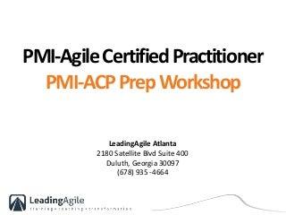 PMI-ACP Training Deck