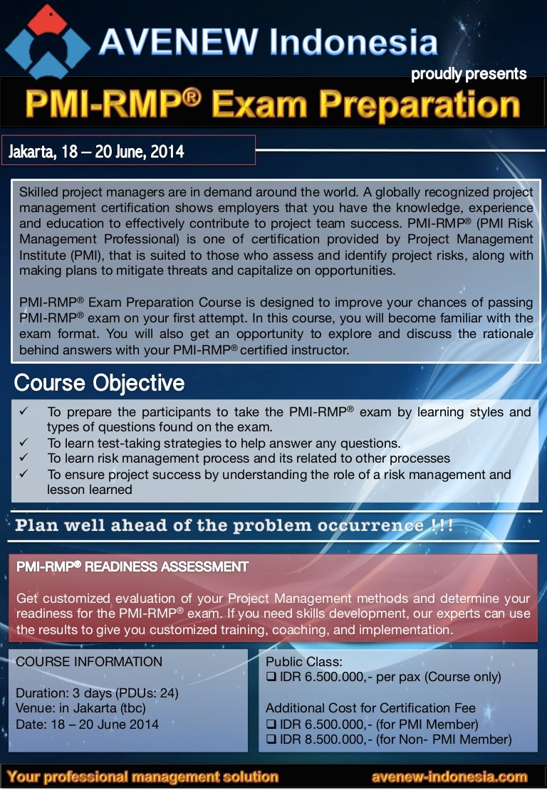 Pmi rmp exam preparation brochure jakarta 18 20 june 2014 1betcityfo Images