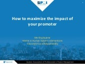 Matinée PMI - How to maximize the impact of your promoter by Merling Sapene