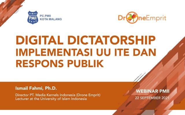 Digital Dictatorship dan UU ITE