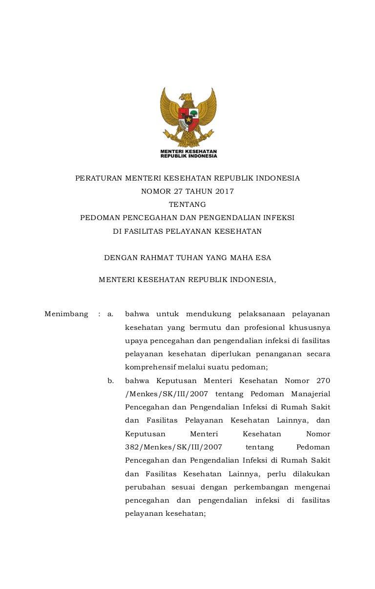 Permenkes no. 27 tahun 2017 ttg Pedoman Ppencegahan dan Pengendalian… 4ac49fde82