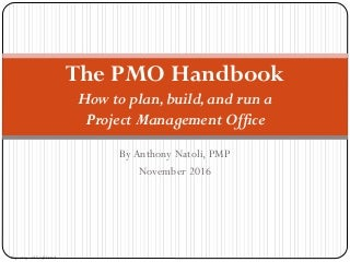 PMO Handbook - How to Plan, Build, and Run a PMO