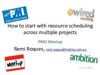 pmo meetup presentation resource scheduling pechakucha