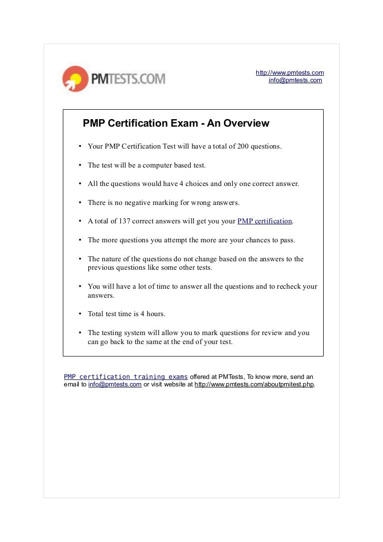 Pmp certification exam an overview project management certificati 1betcityfo Gallery