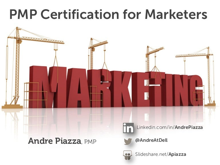 Pmp Certification For Marketers