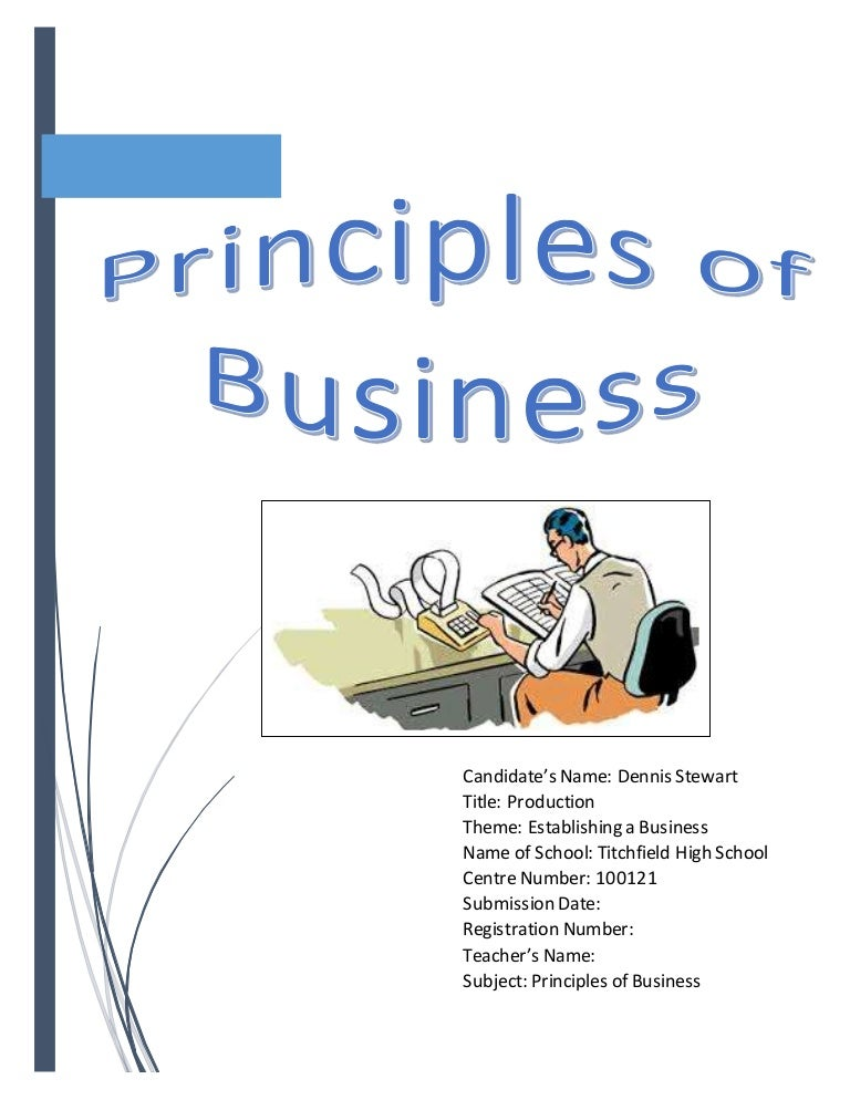 principles of business s b a B&a 59: principles of business centre number : centre name : learner registration no : learner name: learning outcome / section 1: understand business markets assessment criteria (ac) assessment guidance assessor feedback on ac  explain the principles of marketing 'marketing' involves a range of processes across the organisation that combine to satisfy customer needs.